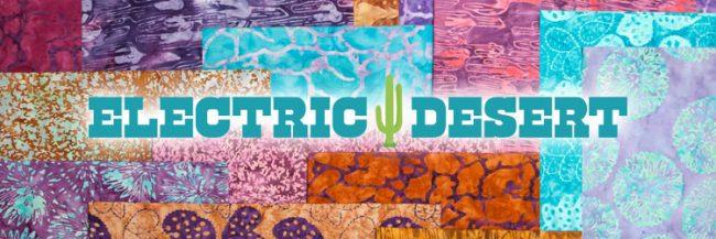 Island Batik Electric Desert fabric collection