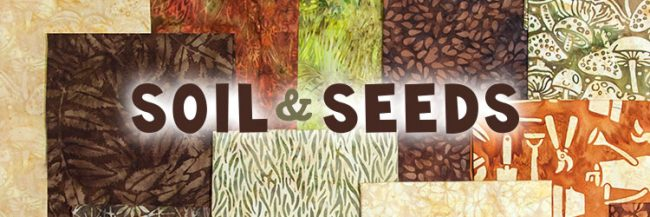 Island Batik Soil and Seeds fabric collection