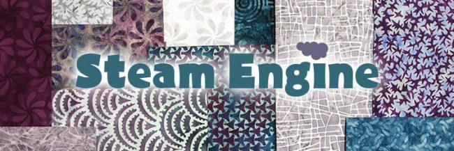 Island Batik Steam Engine fabric collection