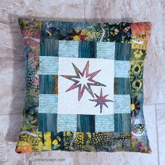 Eight Point Applique Star pillow tutorial
