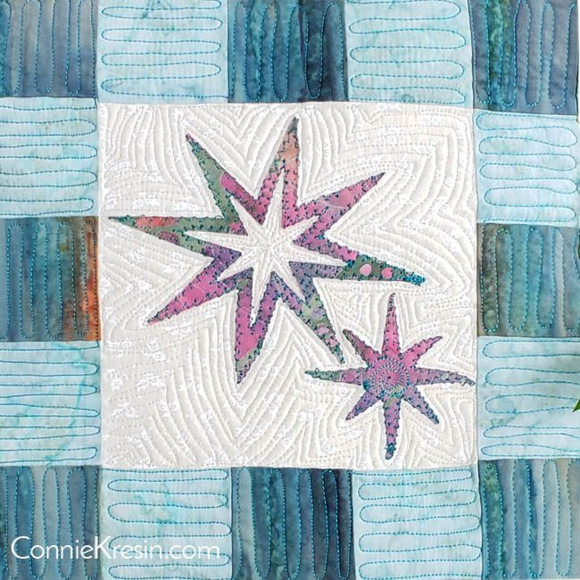 Eight Point Applique Star pillow tutorial diagram