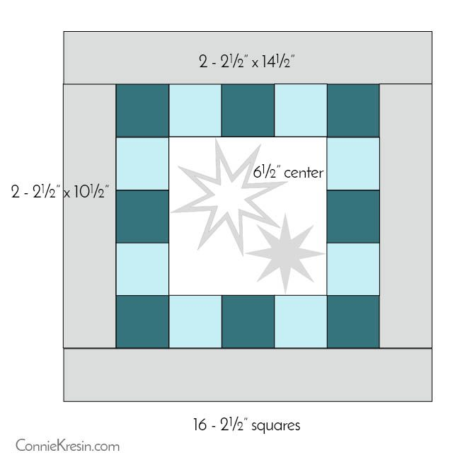 Eight Point Applique Star pillow tutorial diagram