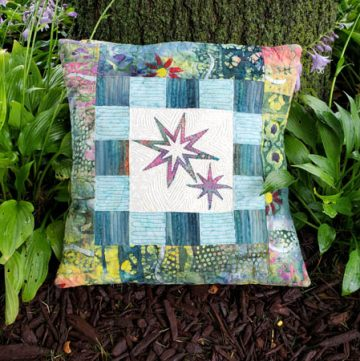 Eight Point Applique Star pillow tutorial featured