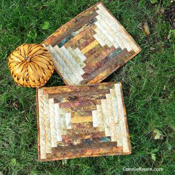 Log cabin placemats tutorial for fall