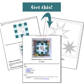 Get the eight point star pillow tutorial