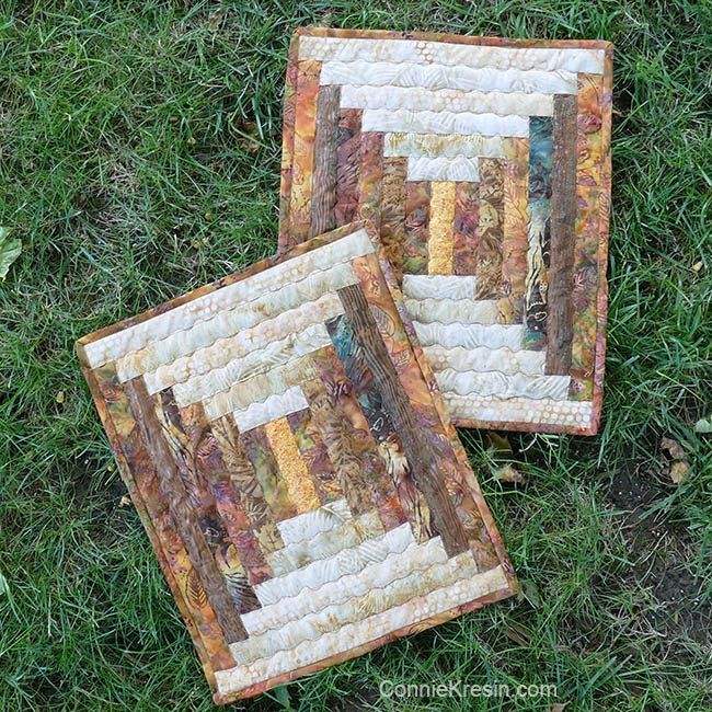 Log Cabin quilted placemats