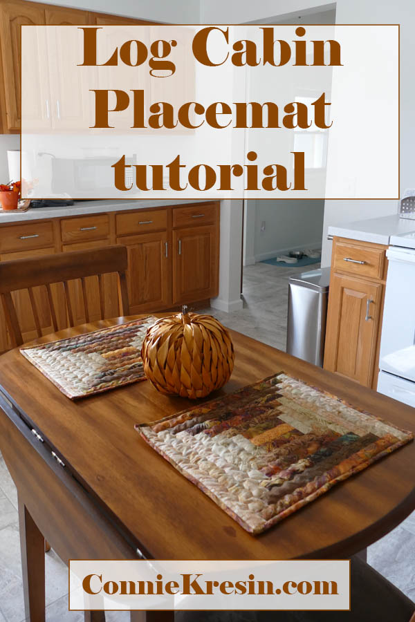 Log cabin placemat tutorial easy to follow directions