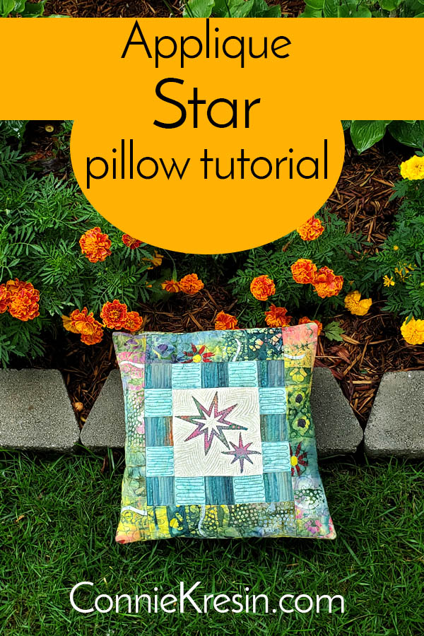 Applique star pillow tutorial