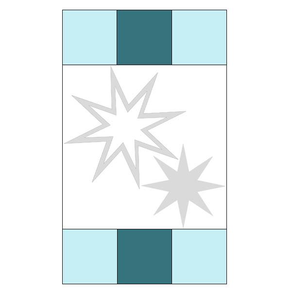 Eight Point Applique Star pillow tutorial