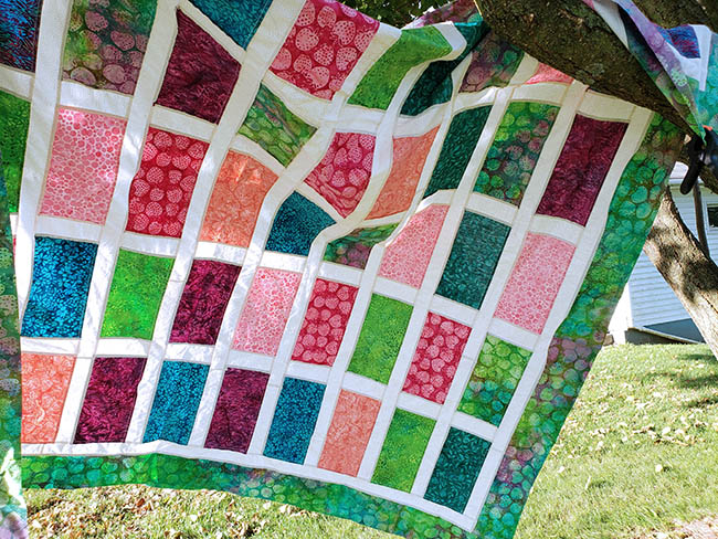 Sparkles quilt top all pieced