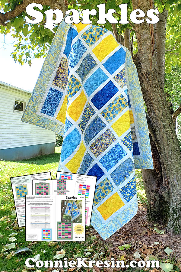 Sparkles quilt pattern easy to make and fast