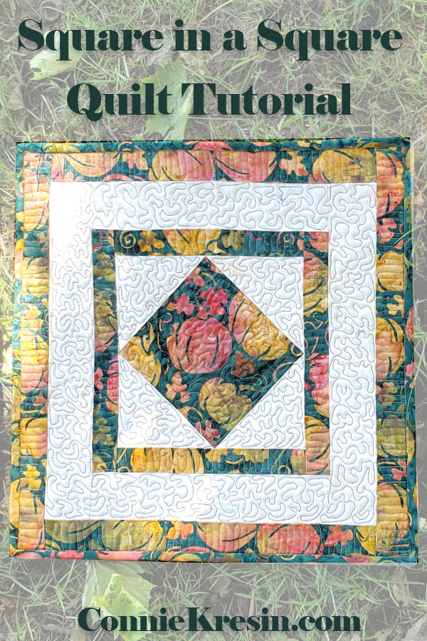 Create a table topper and placemats with this easy square in a square quilt block tutorial