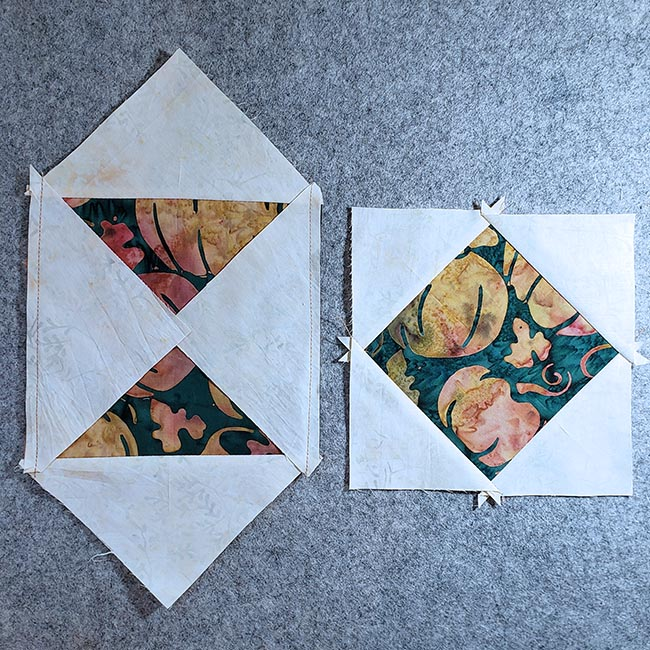 Square in a square quilt block tutorial