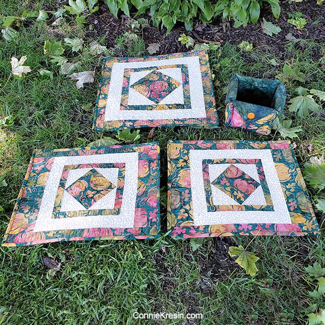 Square in a square quilt block tutorial for autumn