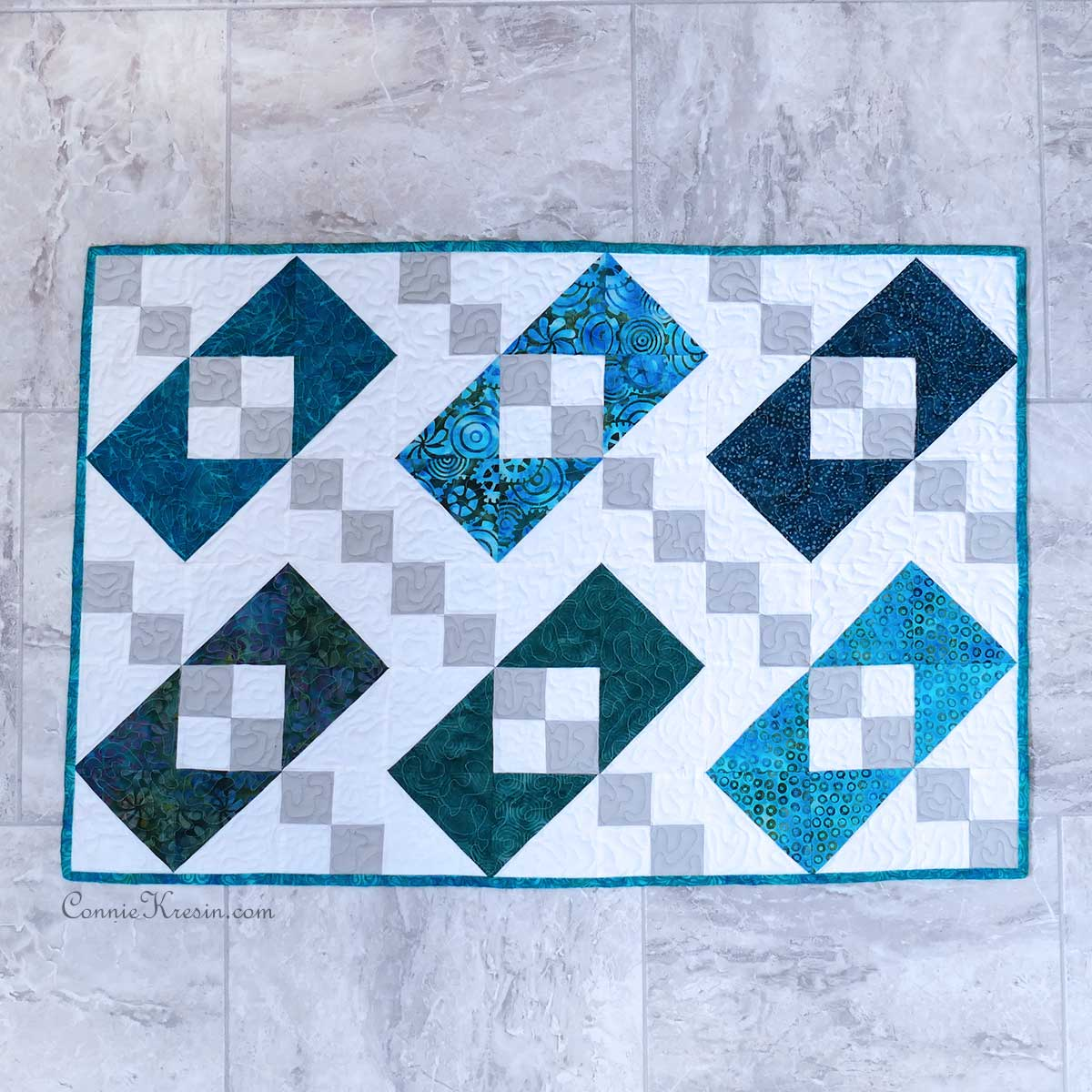 Jacob's Ladder Box Baby quilt