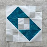 Jacobs Ladder Variation quilt block 12 inch