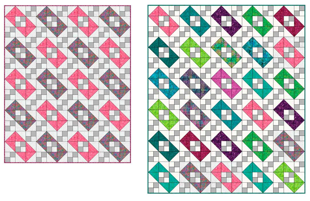 Diagrams of quilts