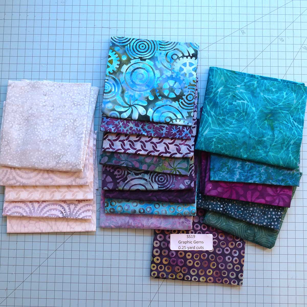 Island Batik fabric collection for the quilt blocks