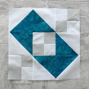 quilt block Jacobs Ladder variation