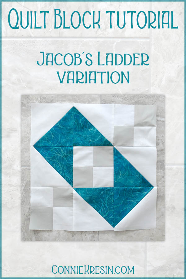 Jacobs Ladder quilt block variation easy tutorial for hst blocks