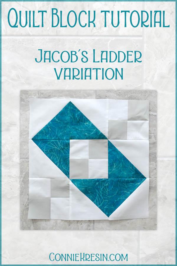 Jacobs Ladder quilt block variation easy tutorial for hst blocks