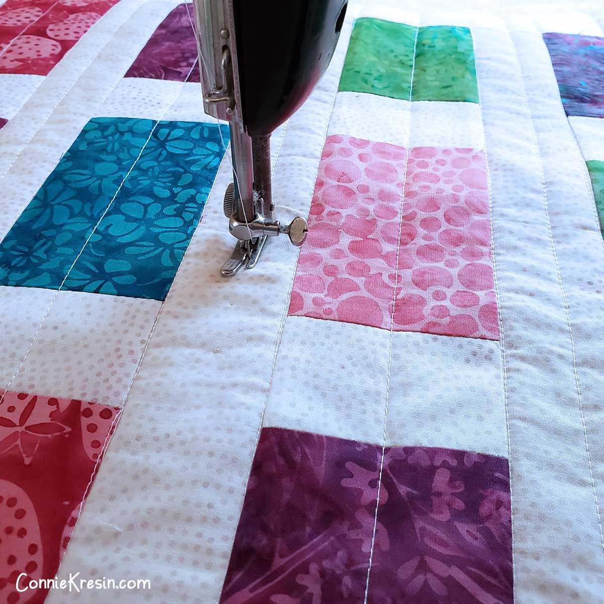 straight stitch quilting on my vintage Singer sewing machine