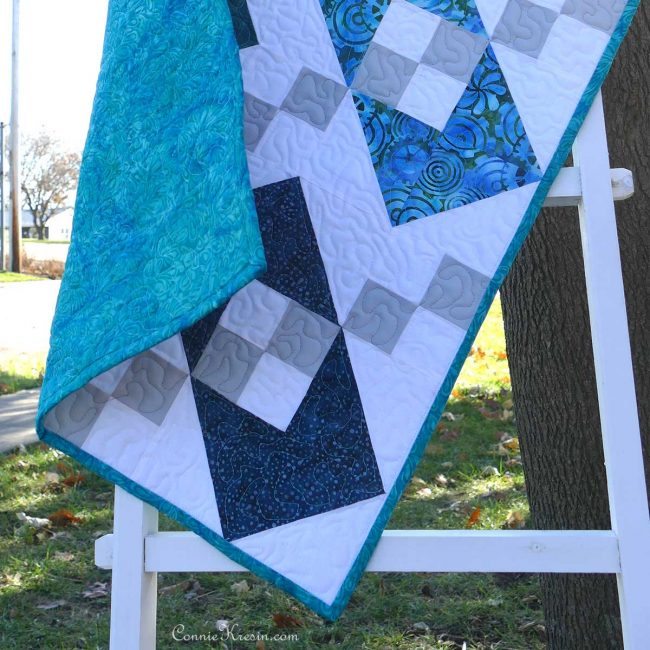 Binding was sewn to quilt by machine using my tutorial