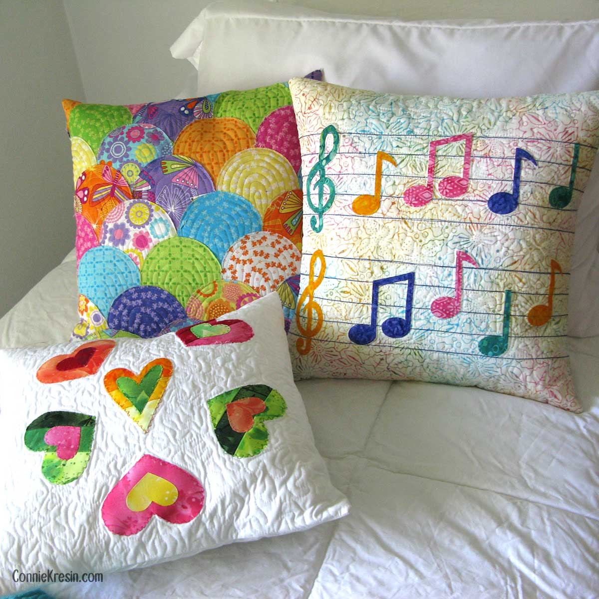 Pillows made with AccuQuilt dies