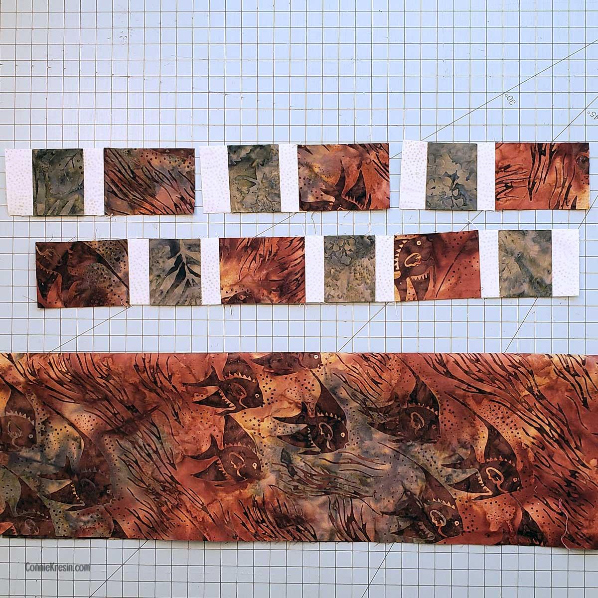 Choosing the batik fabric for brick road