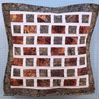 How to make the Brick Road Pillow