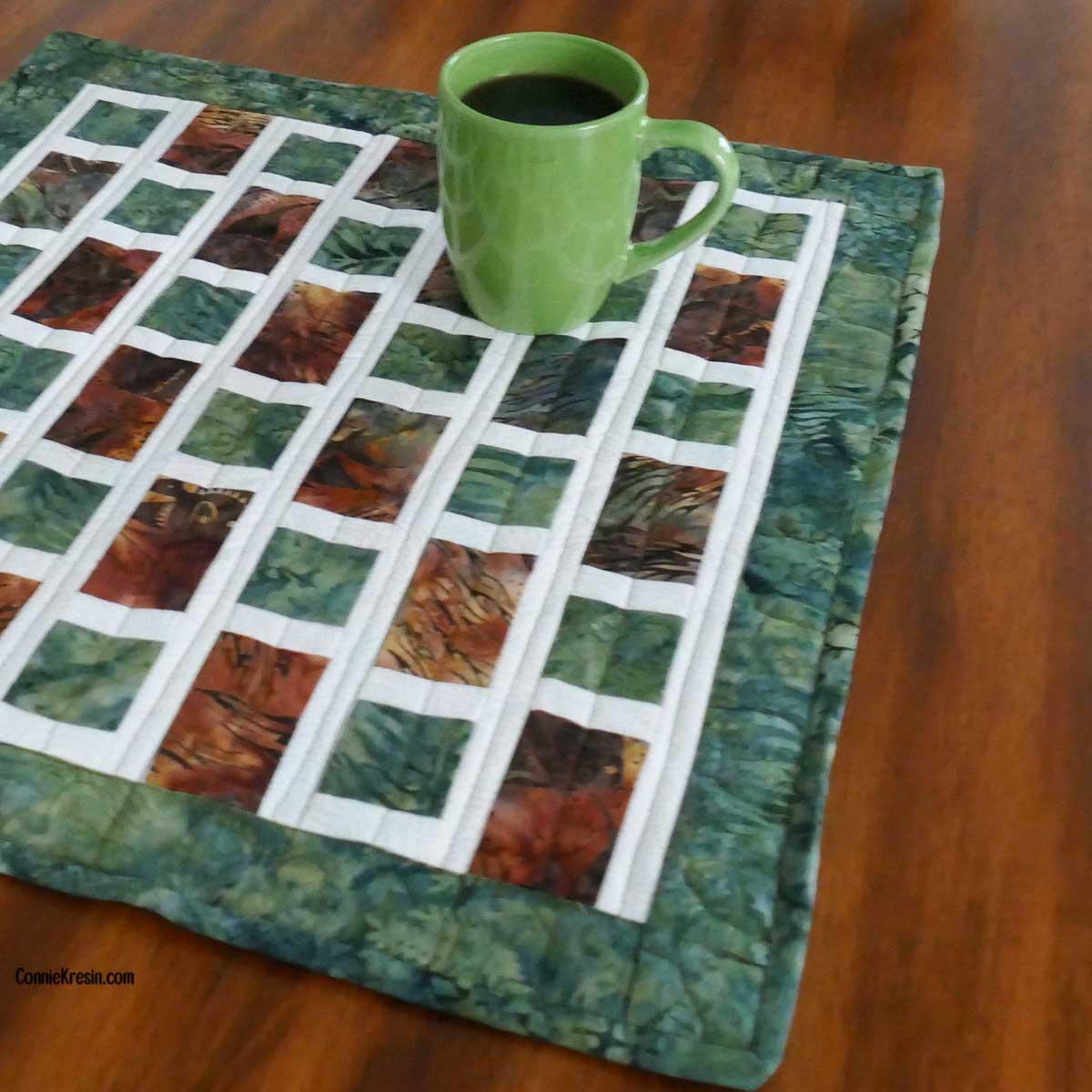 Brick Road as a giant mug rug