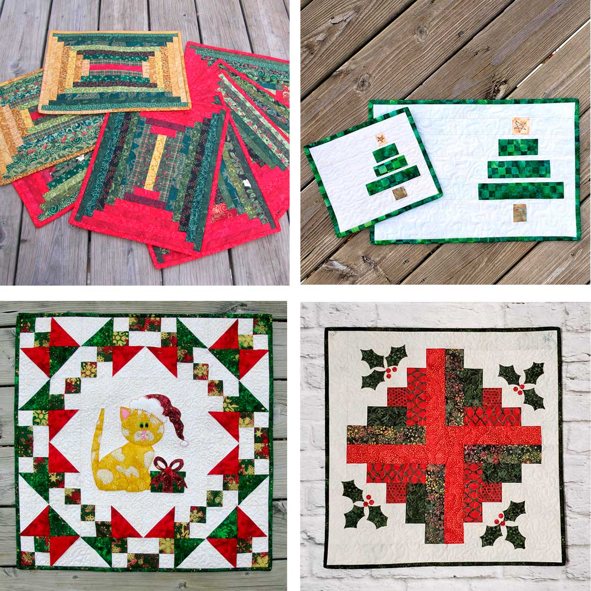 Quilted Christmas projects and tutorials