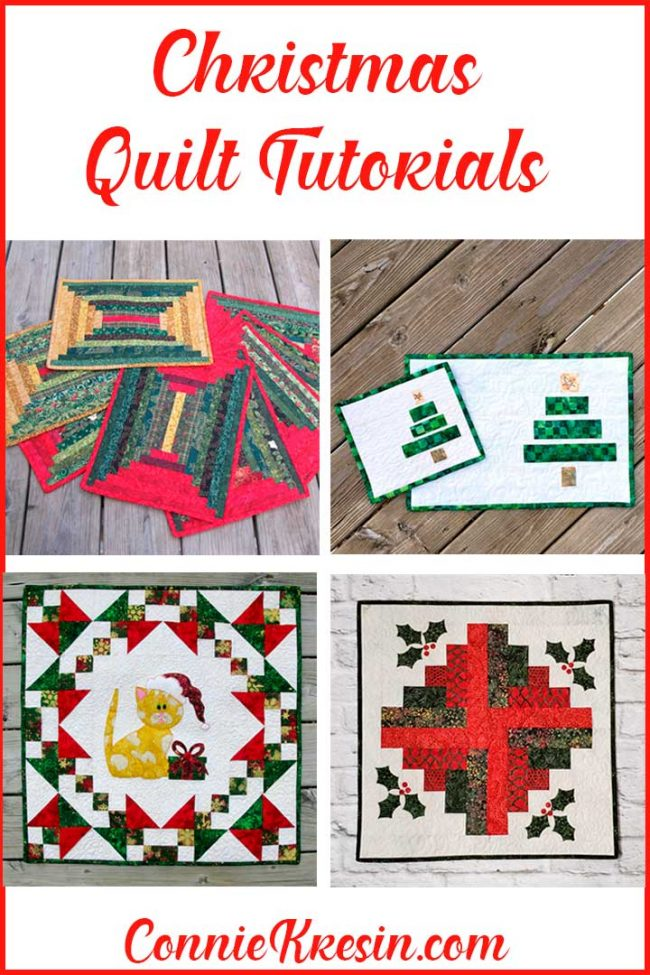 over 15 Christmas Quilt tutorials