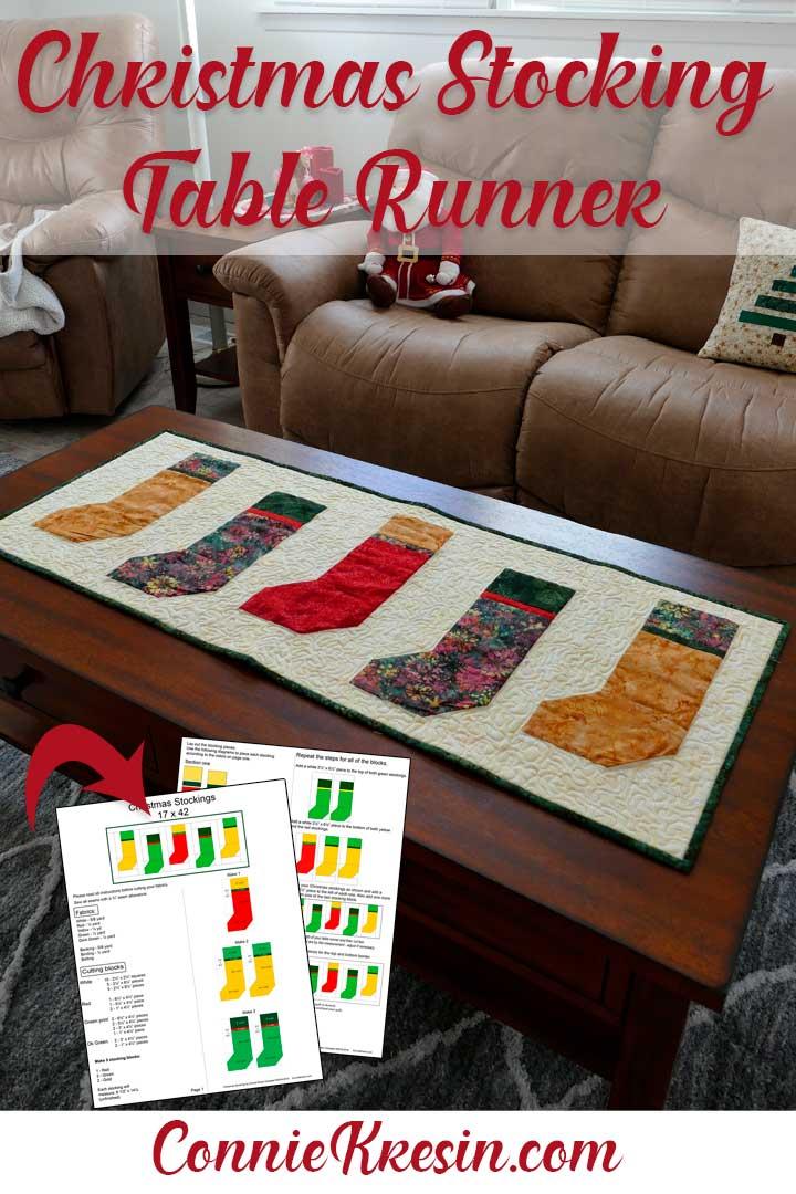 Christmas Stocking Table Runner tutorial