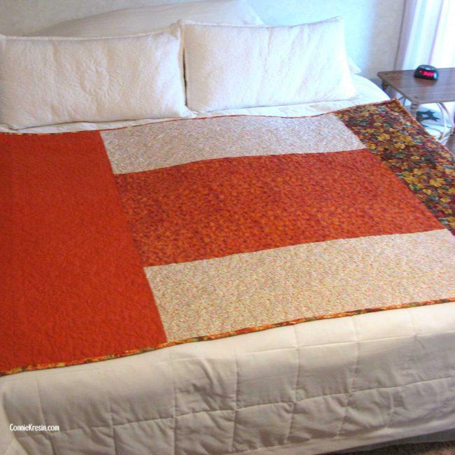 Back of Easy Street quilt