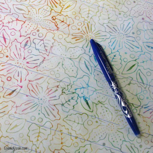 Using Frixon pens to mark fabric