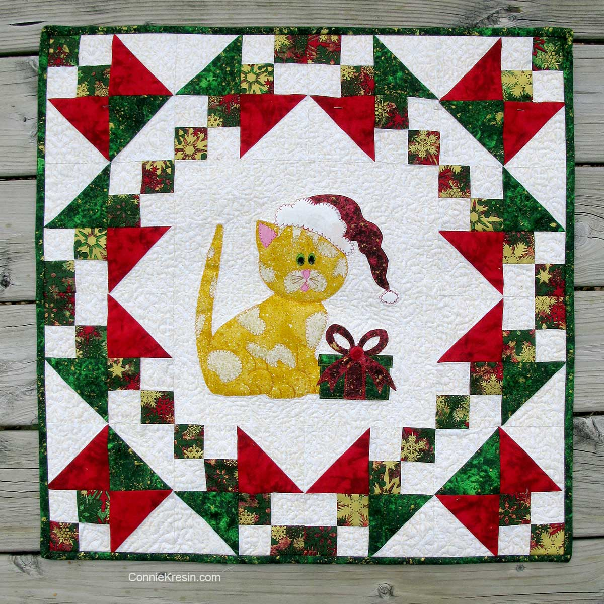 Kitty Kitty wall hanging quilt pattern