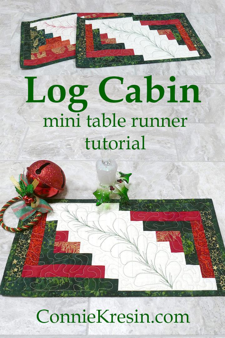 Log Cabin Mini Table Runner tutorial