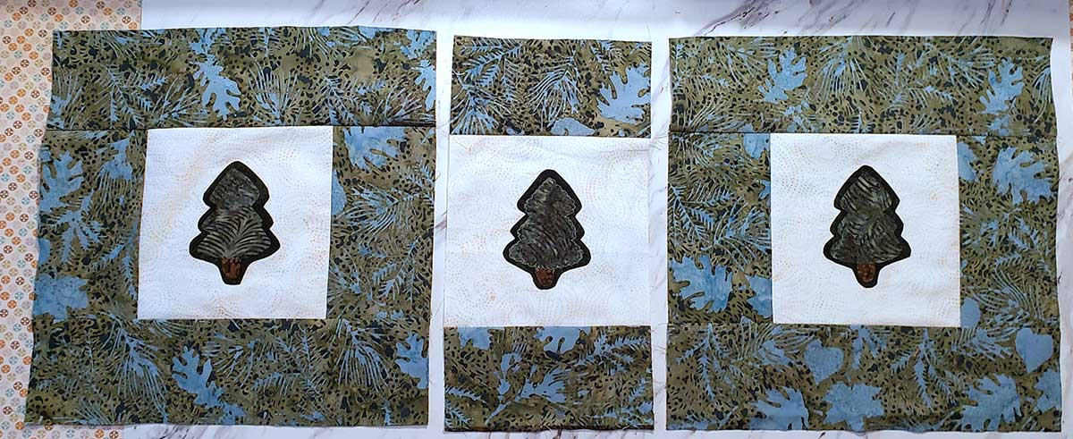 Piecing the Pine Tree table runner