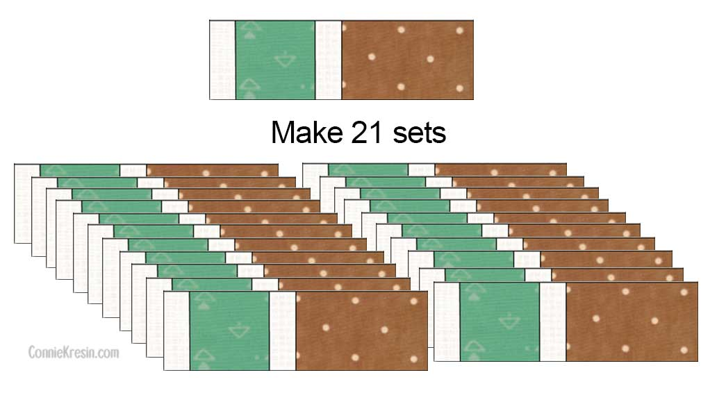 Sets of blocks for the brick road pillow