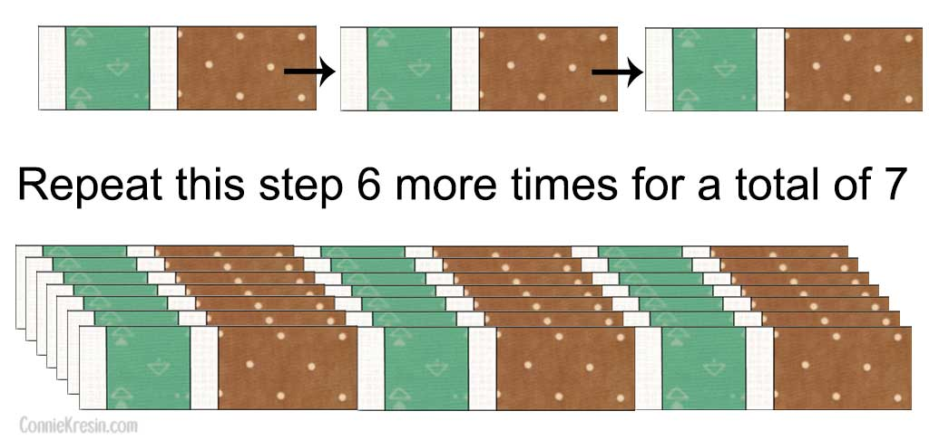Rows of the Brick Road pattern