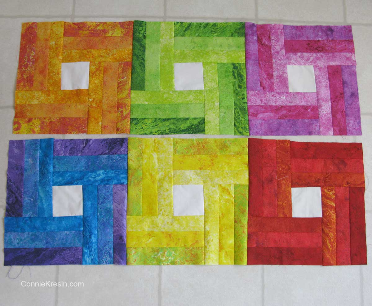 6 blocks for a small baby quilt