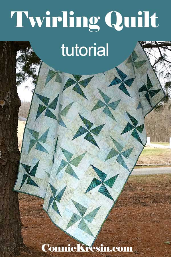 Easy to make Twirling Quilt tutorial
