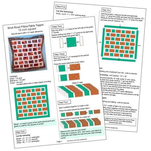 Brick Road pdf pattern