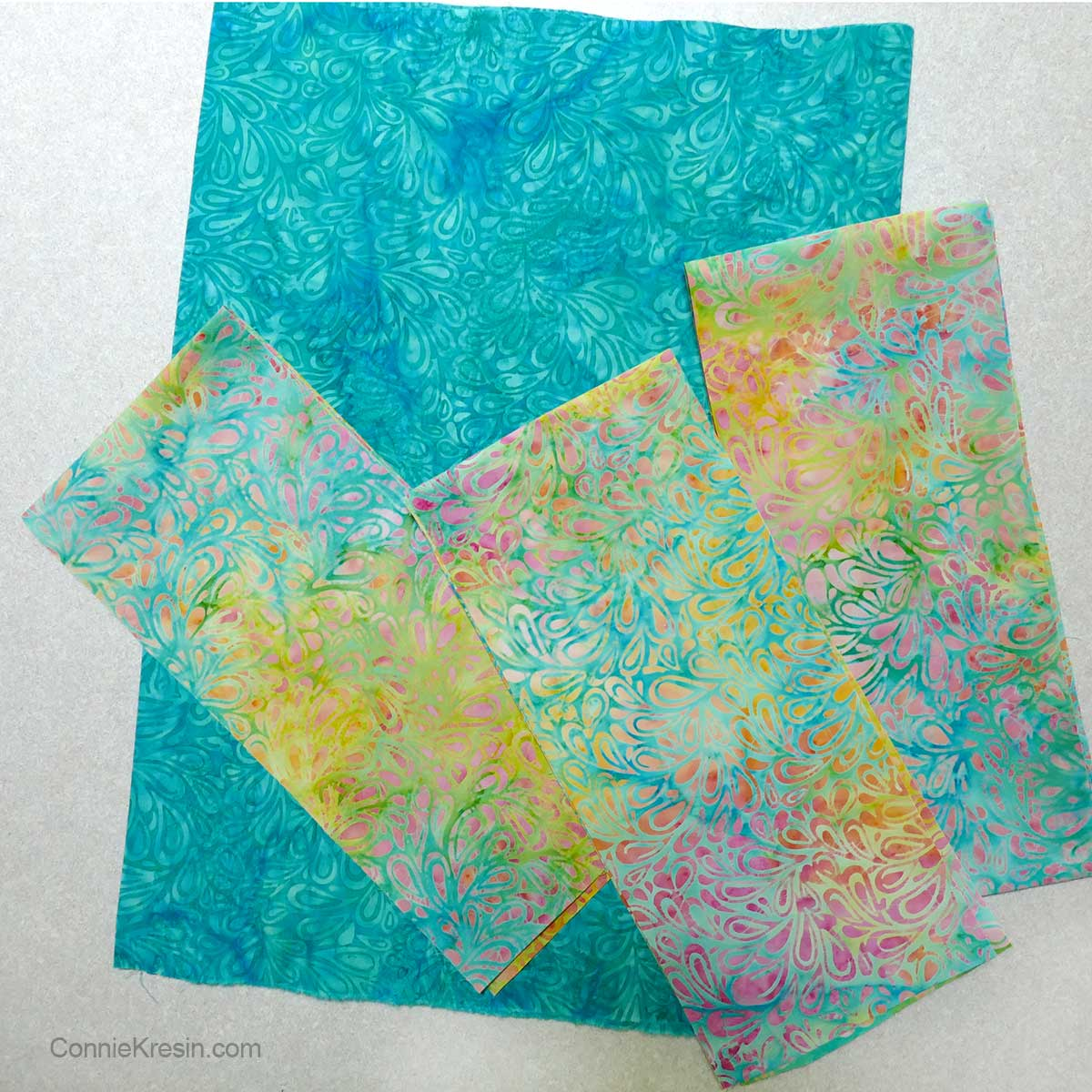 Choose two different coordinating fabrics for your quilt block
