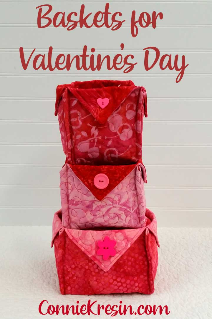 Fabric Baskets tutorial for Valentine's Day