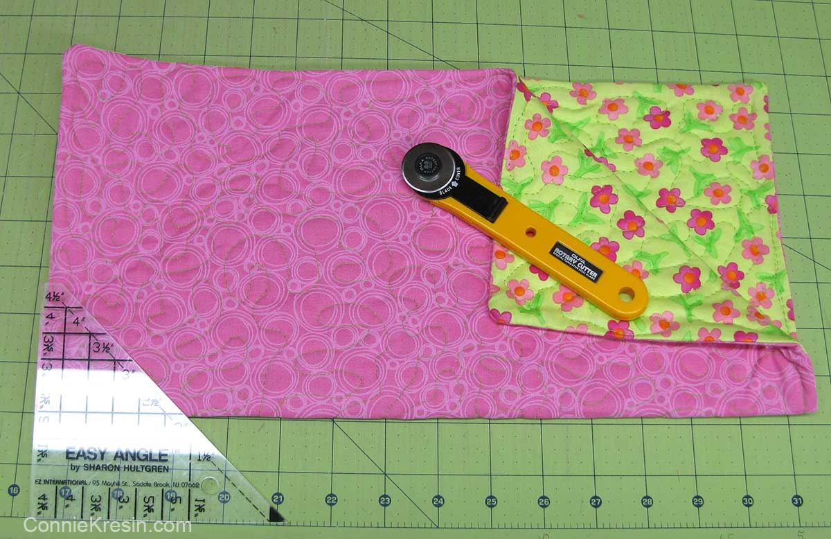 Fabric basket tutorial pink and green fabrics