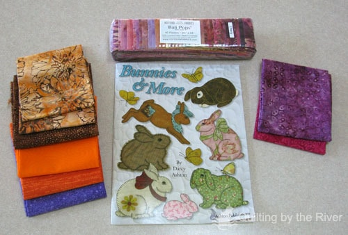 quilt fabric and book