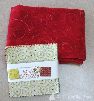 Charm pack and quilt fabric
