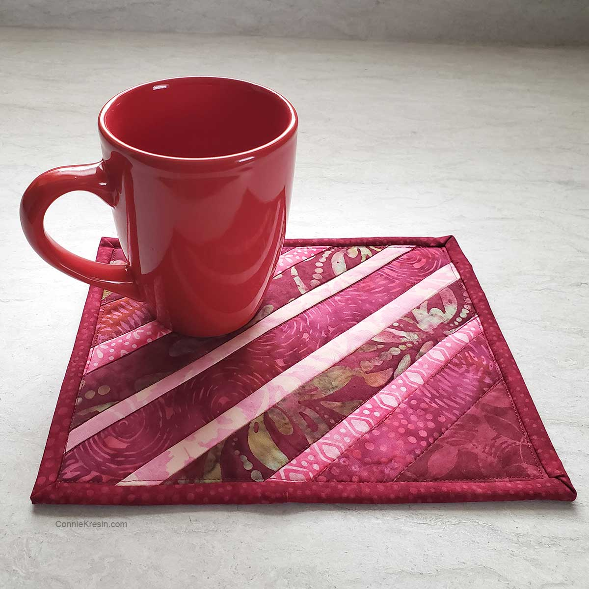 Easy Quilted Mug Rug Tutorial